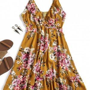 Zaful Floral Ruffles Slip Dress *NEW*